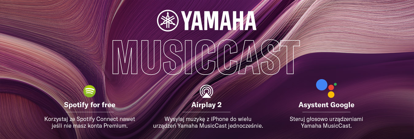 yamaha aktualizacja airplay2 spotify google asystent